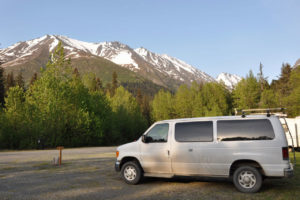 Our camper vans fit in anywhere in Alaska